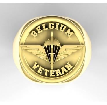 Vétérans Belgique Paras commandos- Or massif jaune ou gris - selon cours du jour de l'Or et taille de doigt - Belgique