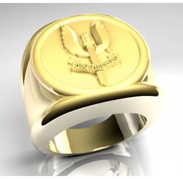 WHO DARES WINS- Or massif jaune ou gris - selon cours du jour de l'Or et taille de doigt - Belgique