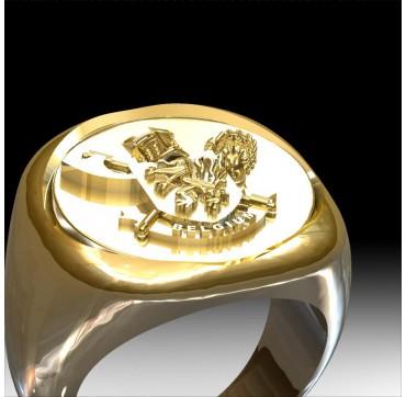 3nd Paras commandos Belges- Or massif 18c jaune ou gris - selon cours du jour de l'Or et taille de doigt - Belgique