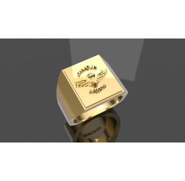 PARATROOPER WING - Or massif jaune ou gris - Armée de Terre Sur devis selon cours du jour de l'Or et taille de doigt